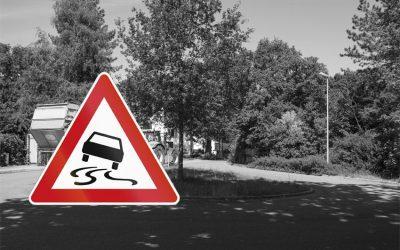 Verschmutzte Straßen durch die Landwirtschaft