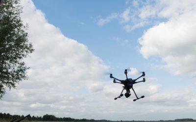 Mit der Drohne Rehkitze suchen